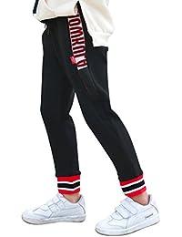 Pantalón Largo Deportivo Para Niñas Cintura Elástica Casual Pantalones De  Chándal 8c07dfb1be58