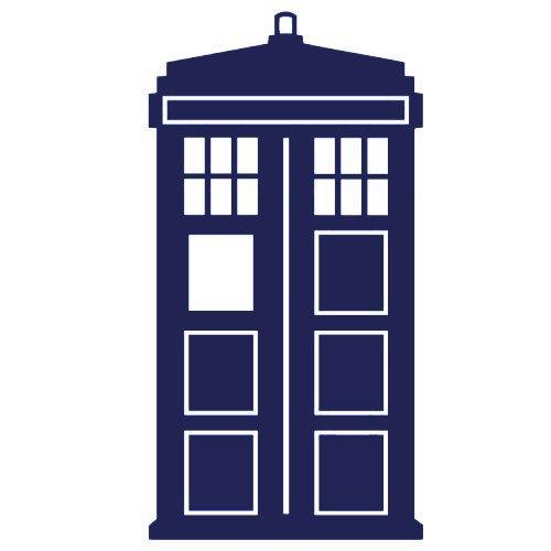 Doctor Who Tardis Car Window Vinyl Decal Sticker| BLUE| 5.5