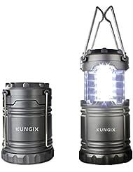 Lanterne camping portable, Kungix lampe torche led pliable ultra lumineuse pour les activés extérieurs, télescopique étanche, idéal pour le camping, la chasse et la randonnée