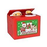 Santa Claus Spardose, stehlen Münzen Bank Geld sparen Box, schöne Cartoon Spielzeug Spardose, perfekte Weihnachtsgeschenk für Kinder