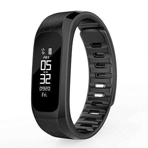 Bluelover Vp9 Real-Time Herzfrequenz-Monitor Remote-Kamera Smart Sport Armband Wristband - Schwarz