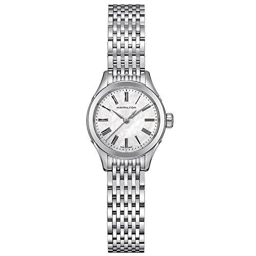 Hamilton Jazzmaster clásico de los archivos de la madre de la perla de las mujeres se muestra en el reloj H39251194