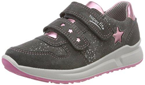 Superfit Mädchen Merida' Sneaker, Grau/Rosa 20, 26 EU (Rosa Kinder Sneaker)