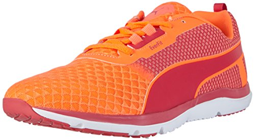 Puma Pulse Flex XT Core Wns - Zapatillas para deportes de interior de Material Sintético para mujer Naranja Orange (fluo peach-rose red-white 01) 39