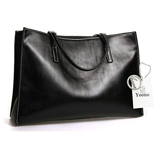 Yoome grande borsa portafogli borsa in pelle borsa donna borsa portafoglio borsa borsa casuale borsa retrò - bianco Nero