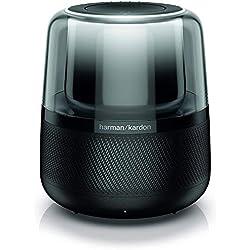Harman Kardon Allure - Enceinte avec Amazon Alexa intégré - Enceinte Bluetooth lumineuse 360 degrés - Pour la maison & salon - 60W - Noir