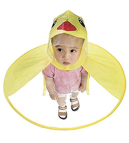 Sencillo Vida Chubasquero Niños, Impermeable Chaqueta de Lluvia con Capucha, Diseño de Pato, Plegable, Raincoat Niño… 1
