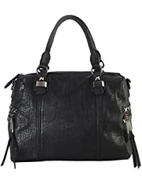 Diophy Soft PU Leather Tote Accented With Studded DÃcor And Zippered Pocket On Both Side Womens Purse Handbag...