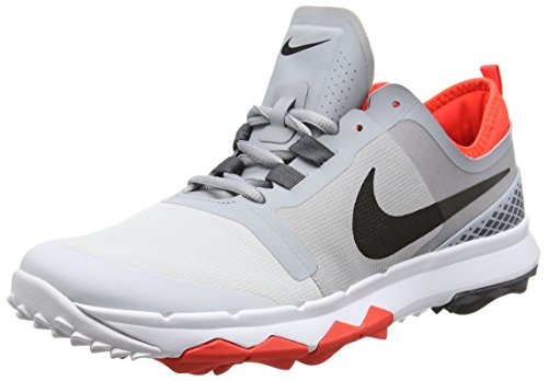 Nike Herren FI Impact 2 Golfschuhe, Grau (Wolf Black/Pure Platinum/Dark Grey 001), 45 EU