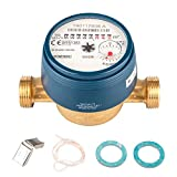 Wasserzähler QN 1,5 Kaltwasser, BL 110 mm 1/2 Zoll Durchfluss - Anschluss 3/4 Zoll  Beste Messgenauigkeit Eichung 2019