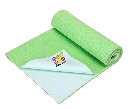 Bey Bee - Quick Dry Baby Bed Protector Waterproof Sheet Reusable Underpads Crib Sheet Cot Mat Bassinet Bedding {Small} {70Cm X 50Cm} (Bey Bee - Pista Green)