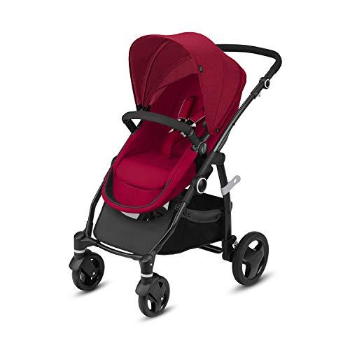 Cbx Leotie Flex - Cochecito 2 en 1 con asiento/capazo reversible, incluye cubierta para lluvia, desde el nacimiento hasta los 15 kg, Crunchy Red