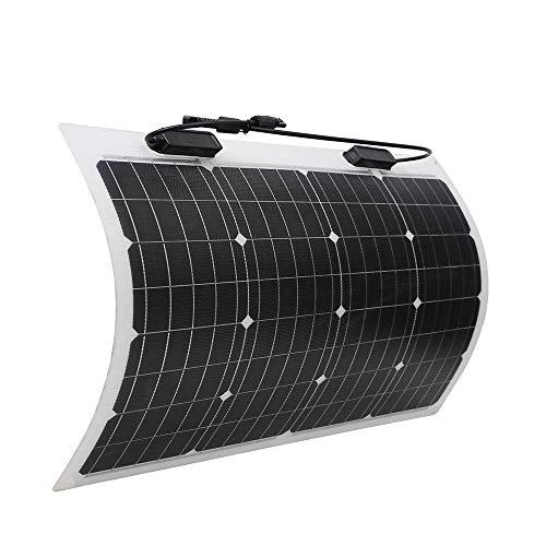 Renogy 50W Monokristallin Solarmodul flexibel Solarenergie Superleicht Caravan Wohnmobil RV Boot Garten