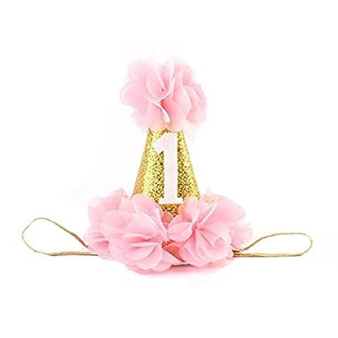 San Bodhi® Baby Mädchen Geburtstag Krone Kopfschmuck Tiara mit Kopfbedeckungen