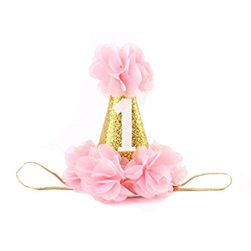 San Bodhi® Baby Mädchen Geburtstag Krone Kopfschmuck Tiara mit (Up Ein Wie Dressing Mädchen)