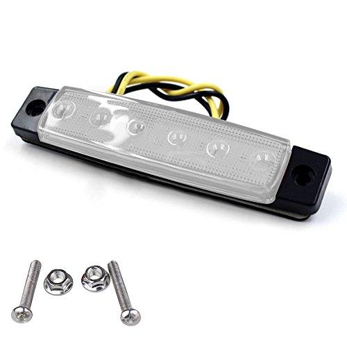LED Blinker Seitenmarkierungsleuchten für Anhänger LKW Wohnwagen Wohnmobil Bus LKW Bus Boot Traktor Wohnmobil, 6 LED, 12V (Weiß)