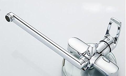 Robinet de douche mur monté salle de bain robinet de laiton corps Chrome fini de Surface solide