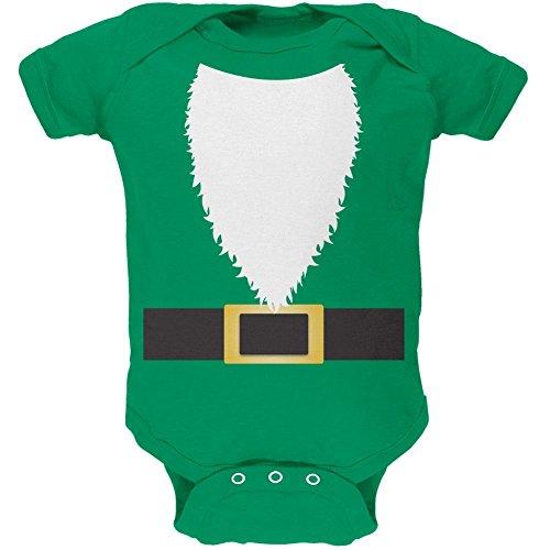 Halloween Rasen Gnome Kostüm grüne weiche Baby Einteiler Kelly Green 9 bis 12 (Baby Halloween Kostüme Gnome)