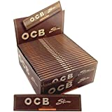 SCORIA Brown King Size OCB Rolling Paper Pack Of 32 Booklet (1024) Leaves In The Box Assorted Hookah Flavor