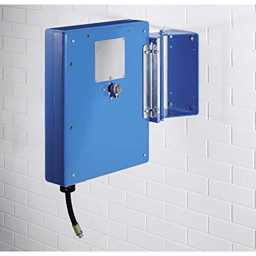 Preisvergleich Produktbild Schlauchaufroller für Luft,  Wasser,  Öl - mit Stahlblechverkleidung - Schlauchlänge 10 m - Schlauchrad Trommel Kabeltrommel
