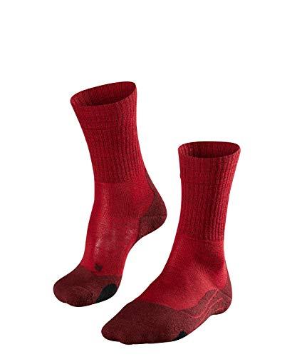 FALKE TK2 Wool Damen Trekkingsocken / Wandersocken - rot, Gr. 39-40, 1 Paar, Merinowolle, mittelstarke Polsterung, wärmende Wirkung