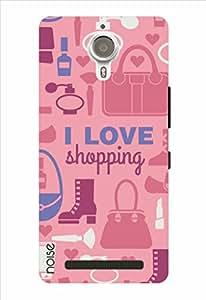 Noise I Love Shopping - Pink Printed Cover for Lenovo K80