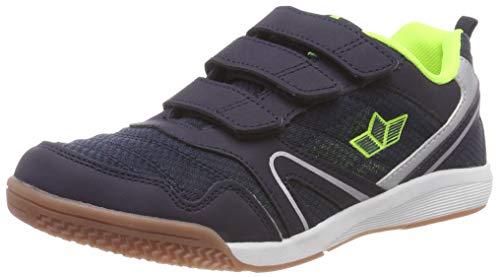 Lico Unisex-Kinder Boulder V Multisport Indoor Schuhe, Blau Marine/Lemon, 32 EU