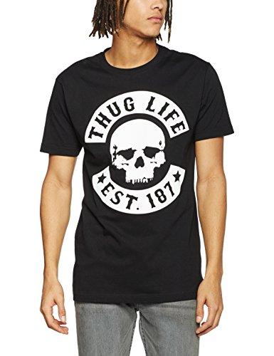 Mister Tee Herren Thug Life Skull T-Shirts, Black, L