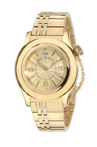 john-galliano-r1553102617-montre-femme-quartz-analogique-bracelet-acier-inoxydable-dore