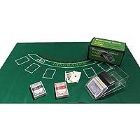 SSTN LTD Blackjack Tarjetas de Juego Casino + Zapatos + Blackjack Fieltro