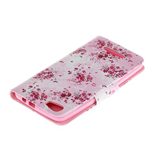 Voguecase® für Apple iPhone 7 Plus hülle,(Paris Turm 02) Kunstleder Tasche PU Schutzhülle Tasche Leder Brieftasche Hülle Case Cover + Gratis Universal Eingabestift Floral 01