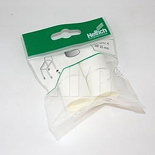 HKB ® 4 Stück Fusskappe, Möbelgleiter zum Aufstecken, für Stuhl- oder Tischbeine aus Metallrohr, rund ø = 25mm, 30mm hoch, Kunststoff weiss, Qualitätsprodukt von Hersteller Hettich, Artikel-Nr. 062863