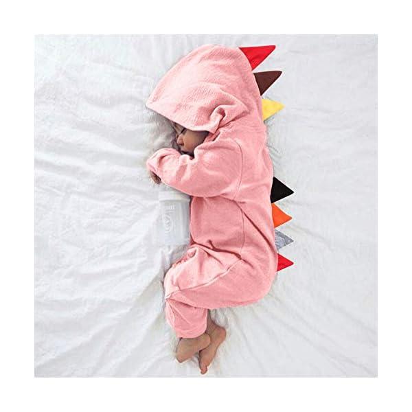 YWLINK Mono con Capucha Beb/é Reci/éN Nacido Ni/ñOs Ni/ñAs Manga Larga Caricatura Dinosaurio Cremallera con Capucha Mameluco Lindo Mezcla De Algod/óN Ocio Comodo Pijama Regalo De Cumplea/ñOs