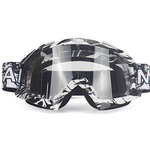 Brille Dirt Bike ATV Cross Riding Ski Fox Motocross Brille Motor für Motorrad UV Ski Snowboard Brille Klare Linse -