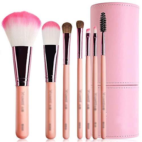 Make Up Brush Foundation Set - Maquillage pour Le Visage et Les Yeux - Soies synthétiques de qualité Professionnelle pour Poudre, Blush, correcteur