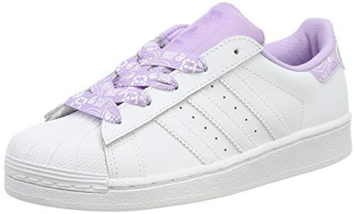 adidas Superstar C C, Scarpe da Ginnastica Unisex Bambini, Bianco Ftwr White/Purple Glow, 34 EU