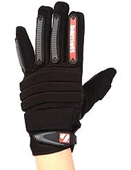 barnett FLG-02 Par de guantes de fútbol americano para lineman nuevo fit, color negro (M)