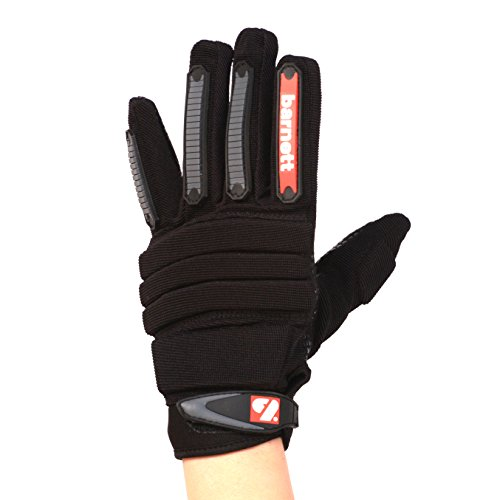 FLG-02 American Football Handschuhe Linemen new fit, OL,DL Schwarz barnett (2XL)