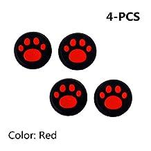 Şapka Stillshine silikon baş parmak eklentisi sürücü korumak için Cover PS2, PS3, PS4, Xbox 360, Xbox One, Wii U Tablet Controller Kırmızı Stillshine