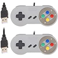 REES52 USB Controller, 2 Pack USB Wired Retro Classic Game Controller Joypad Game Pad for Windows Laptop PC Mac and Raspberry Pi System