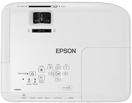 41Qwze7mjhL - Epson EB-X05 - Proyector XGA, Pantalla de hasta 300 pulgadas, 3.300 lúmenes, Tecnología 3LCD, Blanco