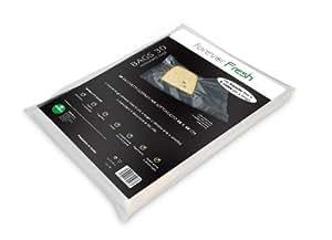 MACOM Forever Fresh 701. Confezione di 30 Sacchetti Goffrati per la Conservazione Sottovuoto Alimenti, 28 x 40 cm