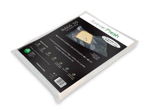 comprare on line MACOM Forever Fresh 701. Confezione di 30 Sacchetti Goffrati per la Conservazione Sottovuoto Alimenti, 28 x 40 cm prezzo