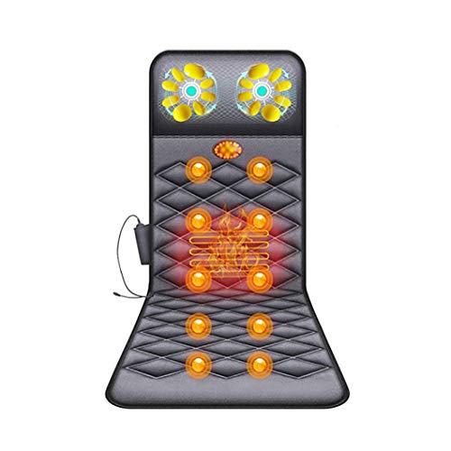 YRCBHJ Shiatsu-Massage-Stuhl zurück mit Wärme, Deep Tissue Kneading Roller, Vibration Sitzkissen, verstellbare Halshöhe - Relax Nacken Schulter zurück und Hüftmuskulatur