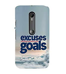 EPICCASE No Excuses for Success Mobile Back Case Cover For Moto X Play (Designer Case)