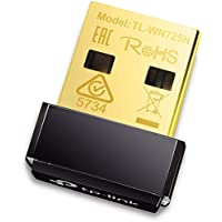 TP-Link TL-WN725N Clé WiFi N 150 Mbps, nano adaptateur USB wifi, dongle wifi, compatible avec Windows 10/8.1/8/7/XP/Vista, Mac OS X 10.9-10.13, Linux.