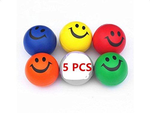 Stress-Bälle, Mytobang 5 PCS glückliches Lächeln-Gesichts-sensorische Spielwaren betonen Ball, Druck-Entlastung spielt für ADHS und Autismus und Druck-Entlastung lustige Spielwaren für Kinder und - Emojis Stress-bälle
