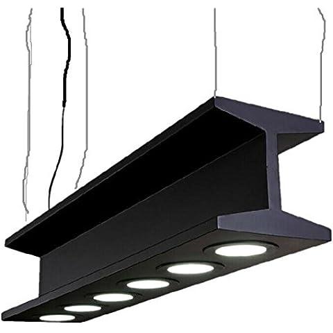 YMXJB lampada a sospensione a sospensione in metallo industriale moda 6 lampade creativo semplice retrò Heavy Metal progetto Ciondolo lampada LED rettangolo lampada dimensioni: 20cm larghezza e 100cm di lunghezza