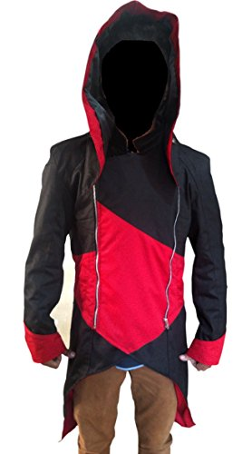 Connors Ken way Leather Assassin's Creed Halloween Jacket Black 4XL ()