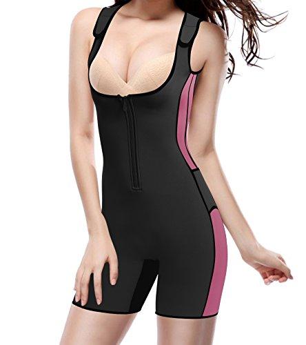 Gotoly Damen Neopren Abnehmen heißen Sauna Schwitzanzug Ärmeln für Gewichtsverlust (S, Schwarz) -